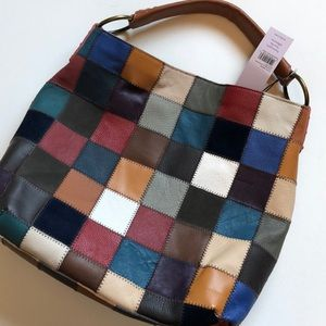 Kooba multicolor patchwork shoulder bag